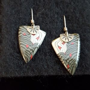 "Jewelry - Super artsy 1"" earrings"